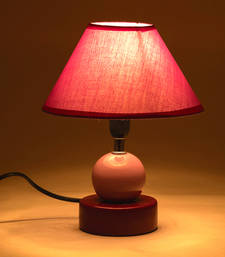 Buy Purple Hut Shade Ceramic Stone Style Base Table Lamp table-lamp online