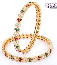 Buy Sukkhi Exquitely Crafted Gold & Rhodium Plated AD Bangle bangles-and-bracelet online
