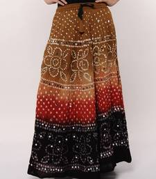 Multicolor Bandhej Cotton Skirt shop online