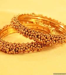 Buy Antique Gold Look Fine Bangles bangles-and-bracelet online