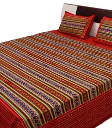 Buy Sangneri Printed Geometric Pattern Double Bed Sheet bed-sheet online