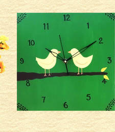 Buy Wooden Wall Clock - Love Birds wall-clock online