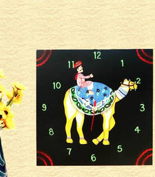 Buy Wooden Wall Clock - Camel Safari wall-clock online