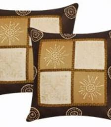 Buy Brown color cushion cover- set of 2 pillow-cover online