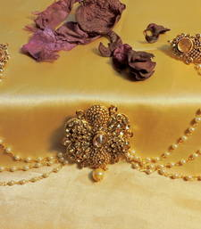 Buy royal three piece gold plated flower zircon hairpin hair-accessory online