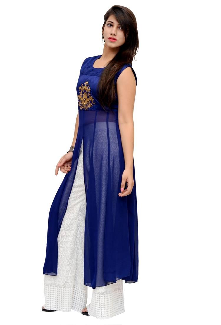 Royal Blue Silk Shoes