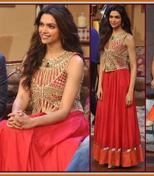 Deepika in Red Gown with Jacket in Comedy Nights with Kapil shop online