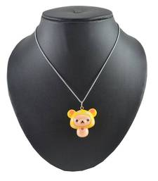 Buy ANGEL GLITTER YELLOW HUSY PENDANT WITH CHAIN gifts-for-kid online