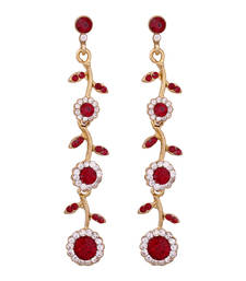 Buy Maroon antique gold danglers-drops danglers-drop online