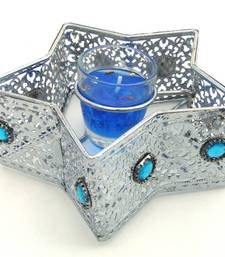 Buy Beautiful Candle Holder in Metal With Kundans Diya Candle Stand Gift Decor Gifting   candle online