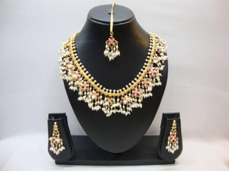 Buy Multicolor American Diamonds Necklace Sets Online