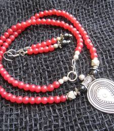 Buy Red stone necklace sets necklace-set online