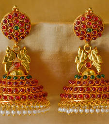Buy Gold gold plated jhumkas jhumka online