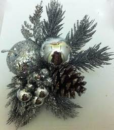 Buy Christmas glitter silver decorative christmas-gift online