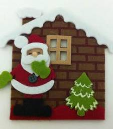 Buy Christmas brown house with santa christmas-gift online