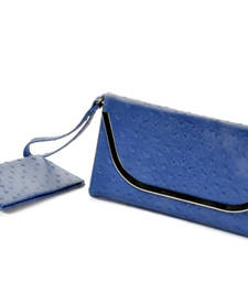Buy Blue Leather Clutch with Small Clutch gifts-for-girlfriend online