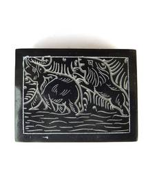 Buy Carved Marble Box - Black jewellery-box online