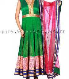 Green color silk suit giving marvelous look shop online