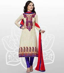 Elegant Georgette Anarkali  Printed Embroidered suit materials D.No SW1104 shop online