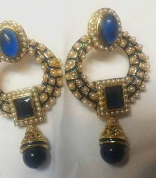 Buy Blue Pearl Earrings  danglers-drop online