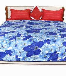 Buy Blue printed Polyester Quilts quilt online