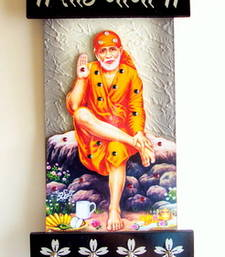Buy Key holder with god photo sai baba wall-art online