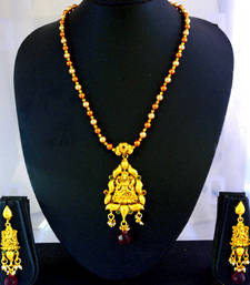 Buy Laxmi necklace-119(temple jewellery) necklace-set online