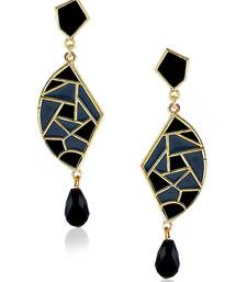 Buy Black- grey Mosaic Danglers danglers-drop online