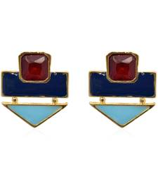 Buy Color Rush Blue Turq Earrings danglers-drop online