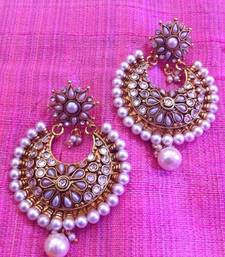 Buy Bold pearl polki flower earring ,ethnic indian women jewelry v574 gifts-for-her online