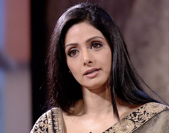 Brocade georgette saree worn by sridevi at satyamev jayate