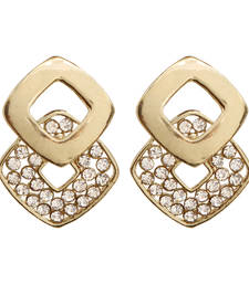 Buy Gold diamond Small Pretty Earring stud online