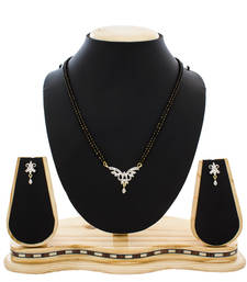 Designer Gold Plated American Diamond Studded Beautiful Mangalsutra shop online