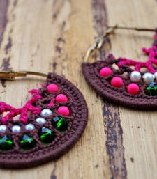 Buy brown pink thread drama hoop online