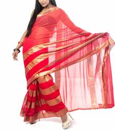 Buy Red & Gold faux-saree online