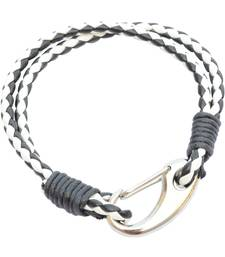 Buy Double Layered Black & White Braided Bracelet/Wrist Band For Men/ Boys men-bracelet online