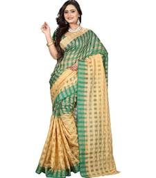multicolor printed cotton saree with blouse shop online