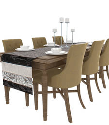 Buy Art Horizon Traditional Striped Silver Table Runner AHBSPTR table-cloth online
