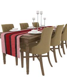 Buy Art Horizon Traditional Striped Pink Table Runner AHTTPTR table-cloth online
