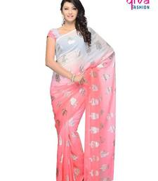 Buy Beseeming Casual wear fancy saree by DIVA FASHION-Surat georgette-saree online