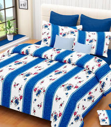 Buy Beautiful Royal SkyBlue Double BedSheet bed-sheet online
