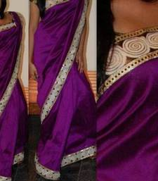 Buy purple magic silk-saree online