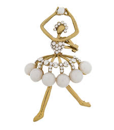 Designer pearl studded beautiful dancer ear cuff shop online