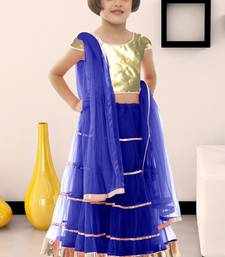 Buy New Designer blue color soft net fabric kids lehenga choli for  #navratri #speical kids-lehenga-choli online