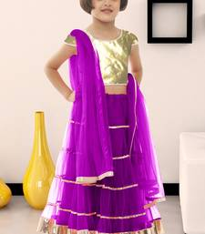 Buy Kids wear New Designer purple color soft net fabric kids lehenga choli for  #garba #speical kids-lehenga-choli online