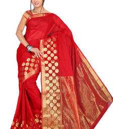 Buy Pavecha's Red Kota Net SareeMK689 cotton-saree online