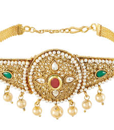 Buy Kundan Work Pearl Design Multi-Color Antique Bajuband bajuband online