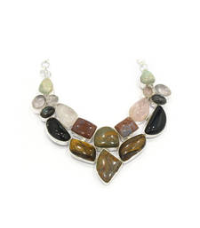 Buy Brown stone agate necklaces party-jewellery online