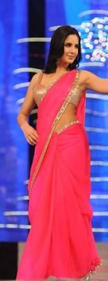Buy Katrina Kaif Pink Saree Online