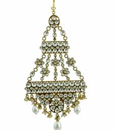 Buy Clear Jadau Kundan Passa Side Jhoomer Jewellery for Women - Orniza eid-jewellery online